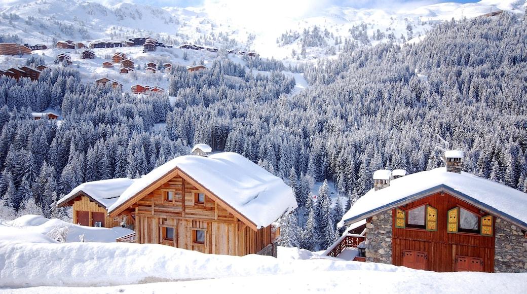 Station de ski de Méribel mettant en vedette forêts et neige
