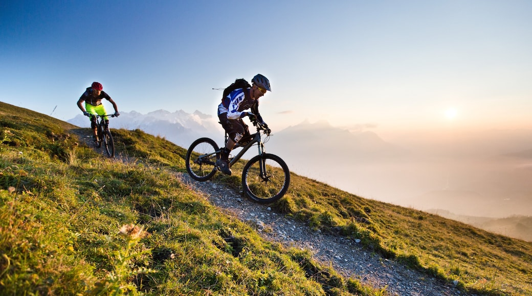 Hasliberg which includes mountain biking as well as a small group of people