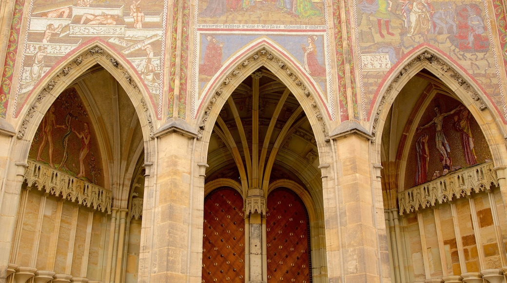 St. Vitus Cathedral featuring a church or cathedral, heritage architecture and art
