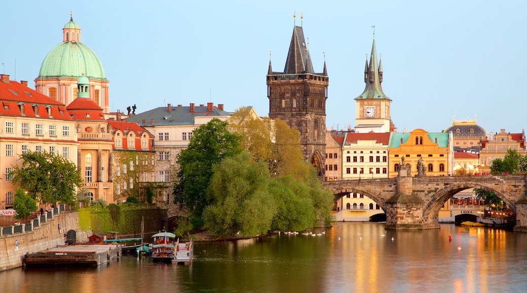 Charles Bridge which includes a city, a river or creek and heritage elements