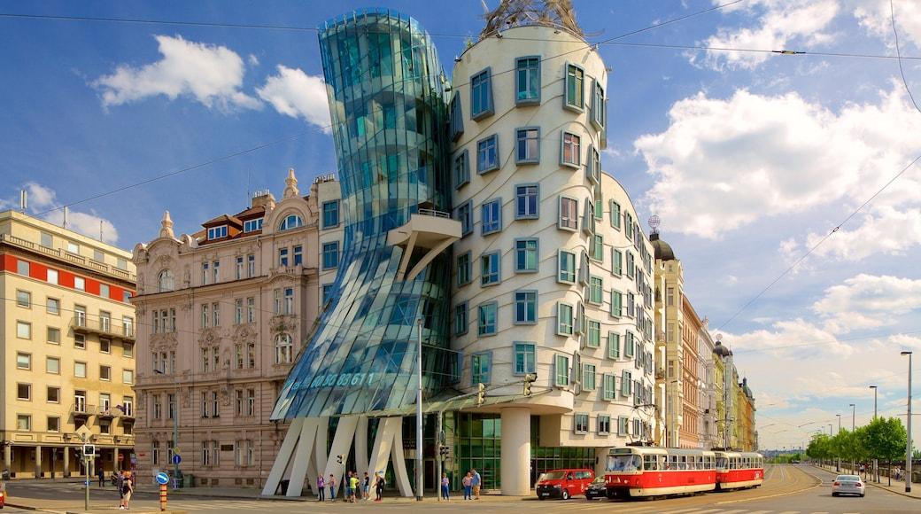 Prague Dancing House featuring a city