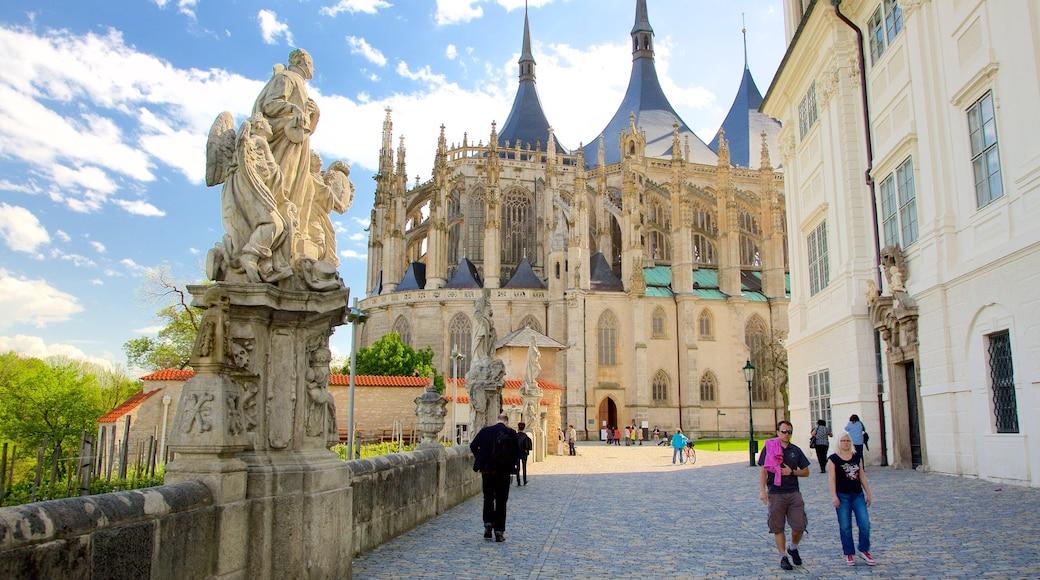 Kerk van St. Barbara inclusief historisch erfgoed, historische architectuur en een stad