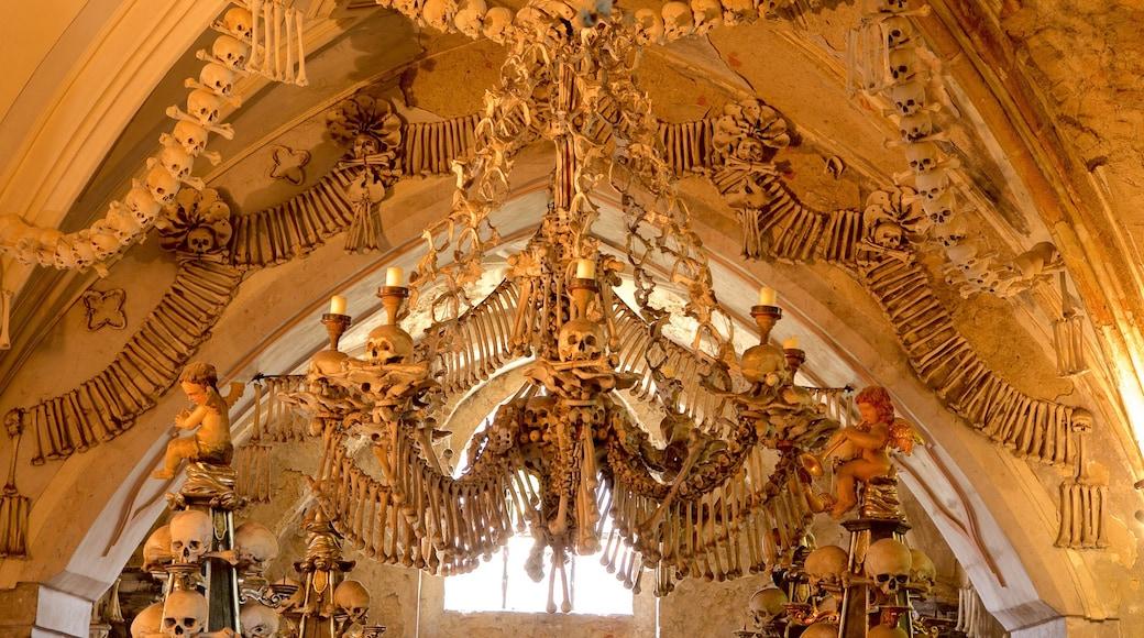 Ossuarium van Sedlec bevat interieur