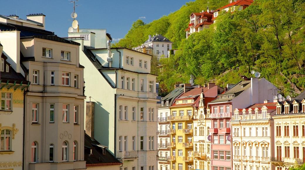 Karlovy Vary som visar en stad