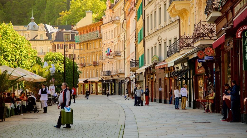 Karlovy Vary presenterar en stad och gatuliv