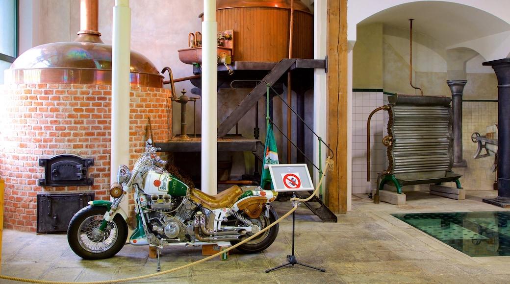 Pilsner Urquell-bryggeriet som viser interiør