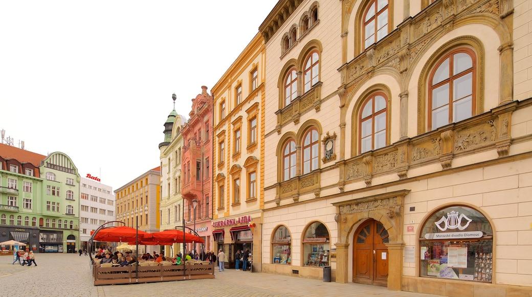 Olomouc bevat een plein en een stad