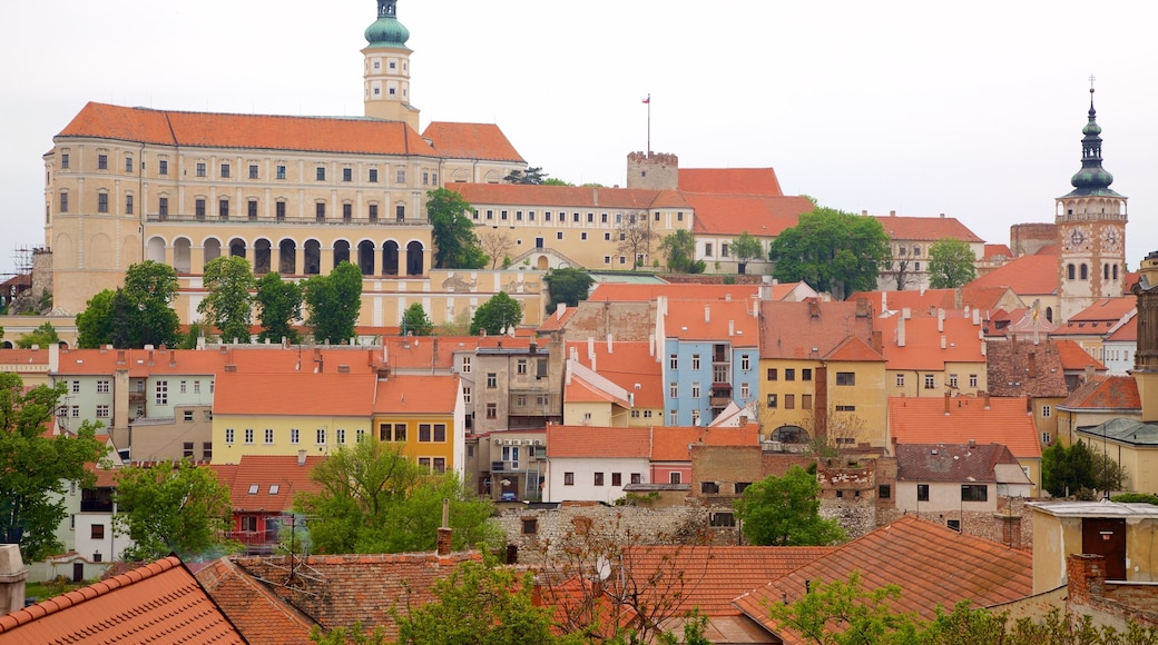 South Moravian showing a city