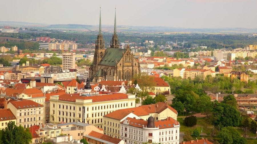 Brno som visar en stad