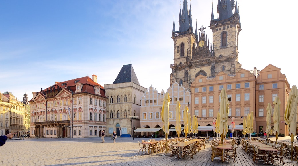 Tyn Church featuring a city, heritage architecture and a square or plaza