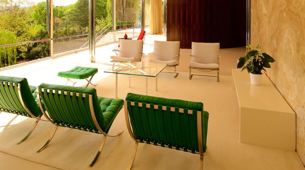Villa Tugendhat mostrando vistas internas e arquitetura moderna
