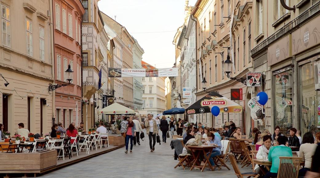 布拉迪斯拉發 呈现出 咖啡文化生活方式, 城市 和 街道景色