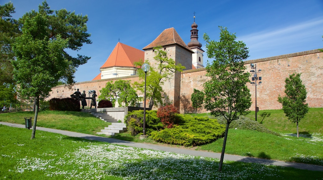 Trnava which includes heritage elements and a park