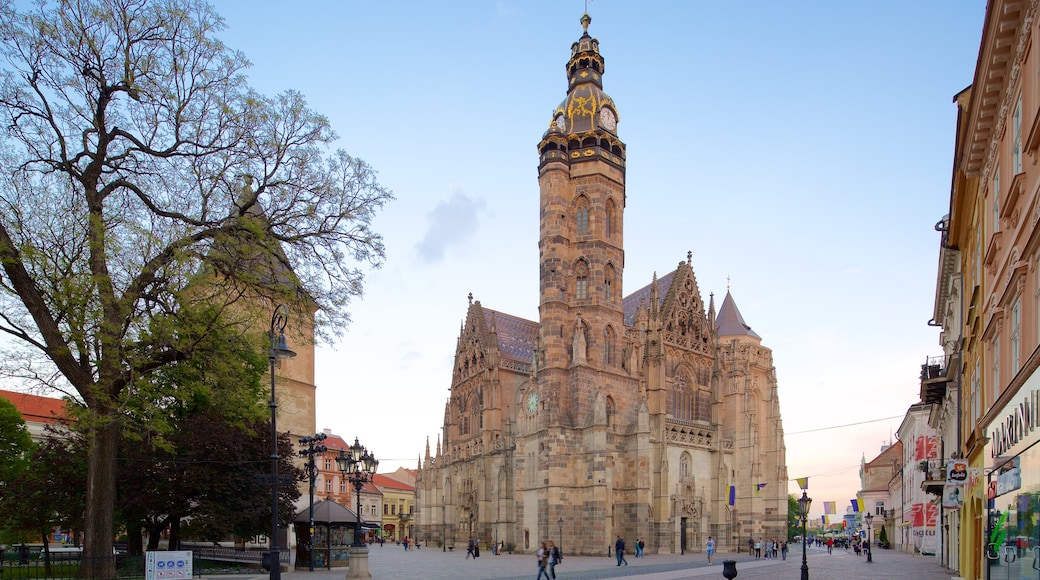 Kosice which includes a church or cathedral, heritage architecture and a city