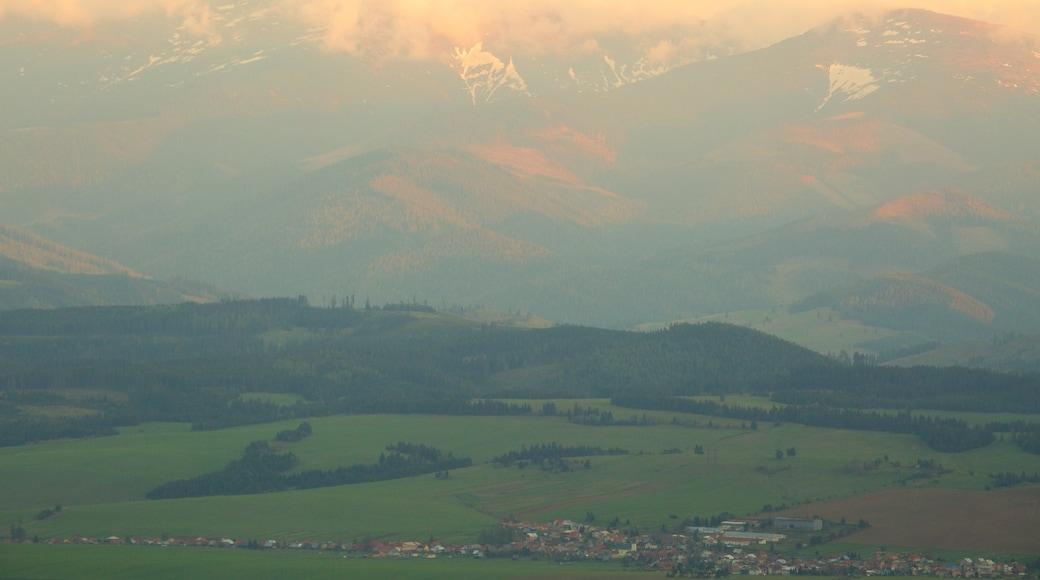 Strbske Pleso which includes tranquil scenes and farmland