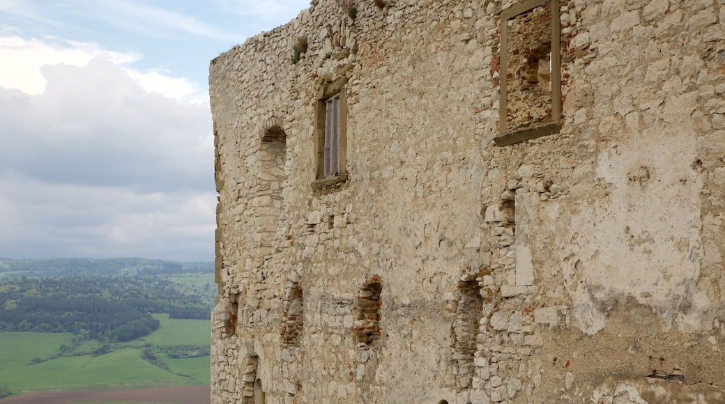 Spissky Castle featuring building ruins, heritage elements and château or palace