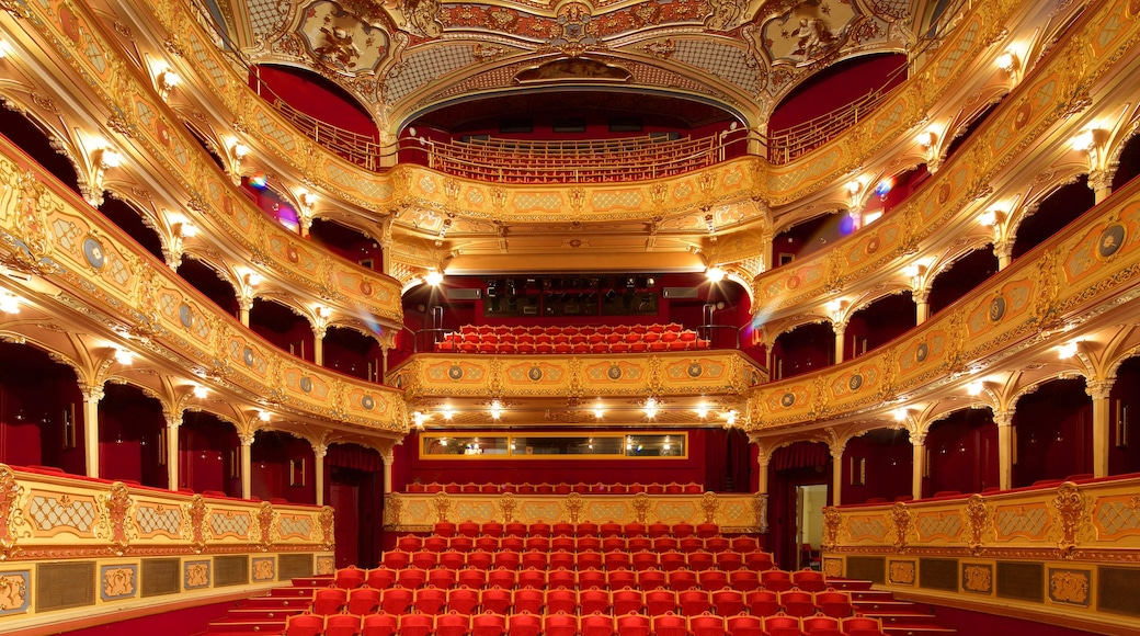 Slovakia featuring interior views, theatre scenes and heritage elements