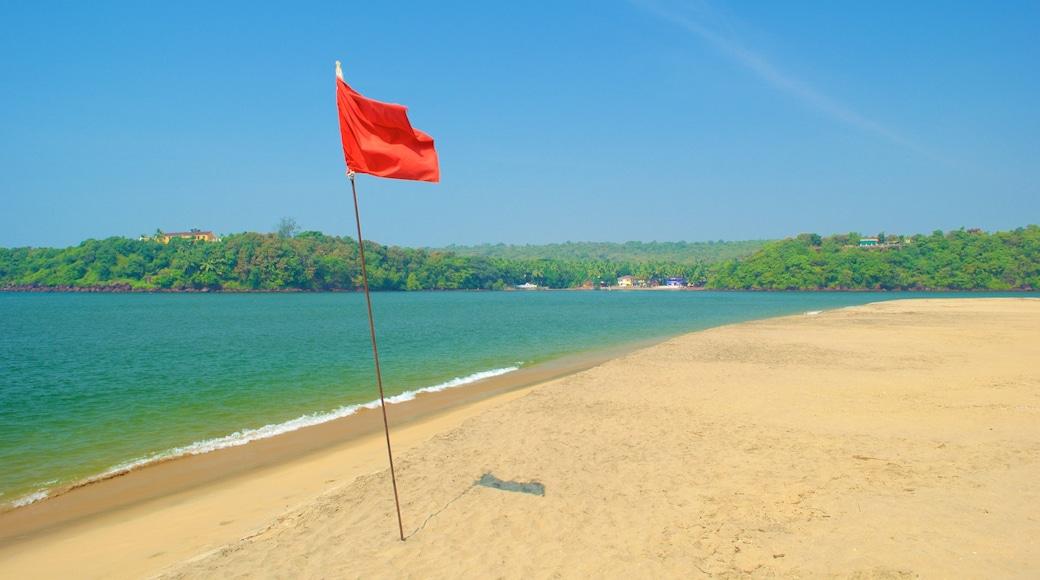 Praia de Querim mostrando uma praia e paisagens litorâneas