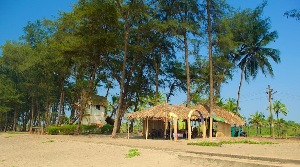 Querim Beach featuring tropical scenes, a small town or village and a beach