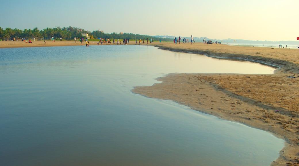 Praia Miramar que inclui paisagens litorâneas e uma praia