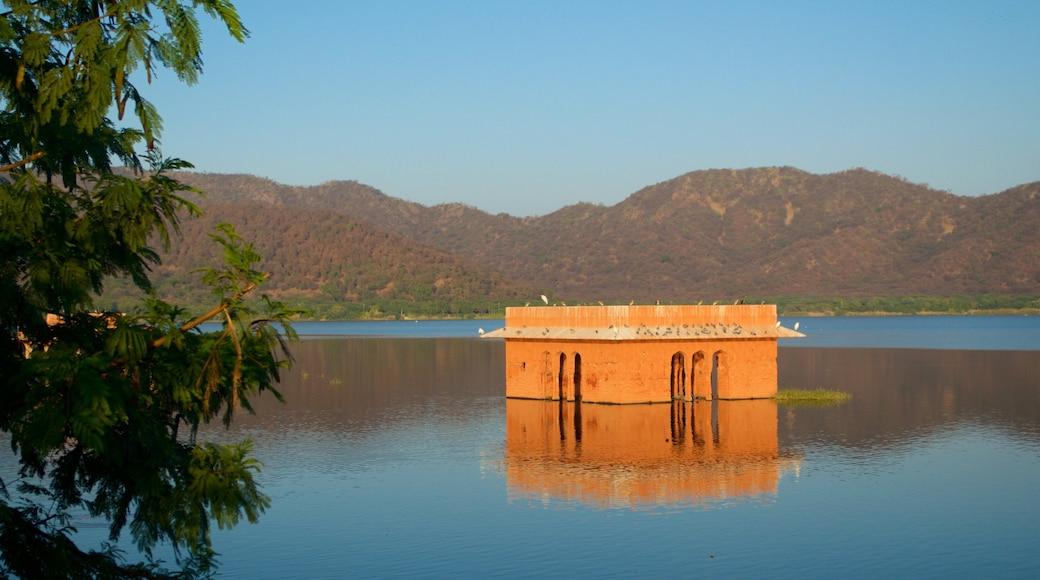 Jal Mahal showing a lake or waterhole