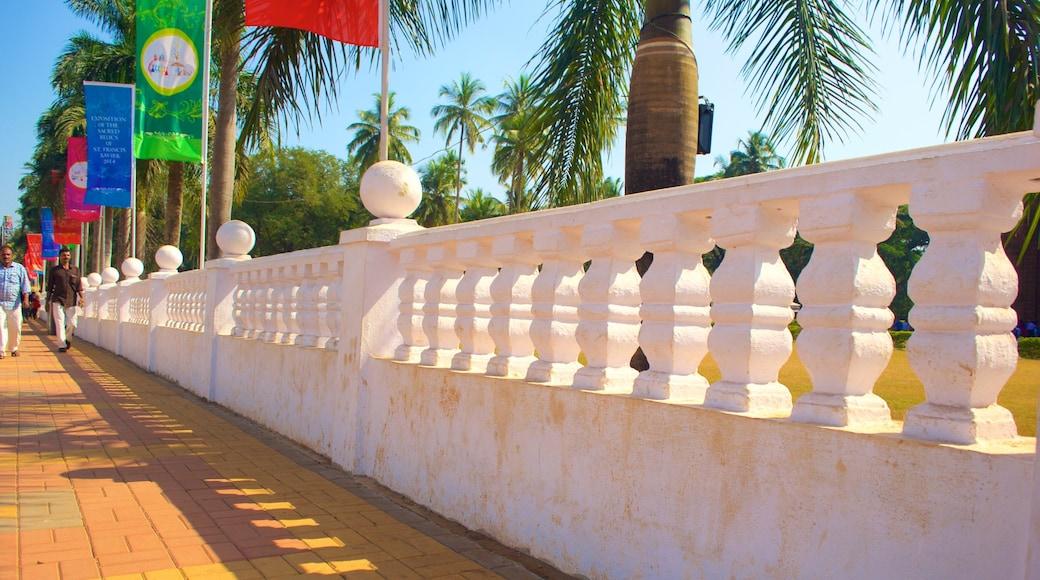 Basilica of Bom Jesus which includes tropical scenes