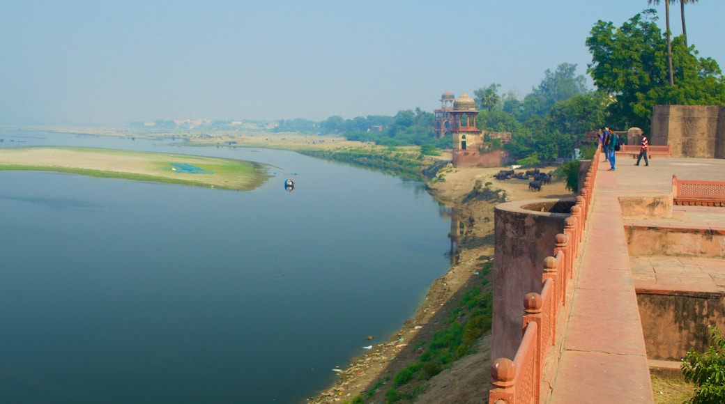 Ram Bagh showing views, a river or creek and a castle