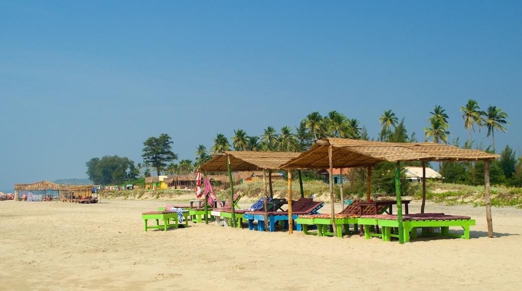 Mandrem Beach which includes general coastal views and a sandy beach