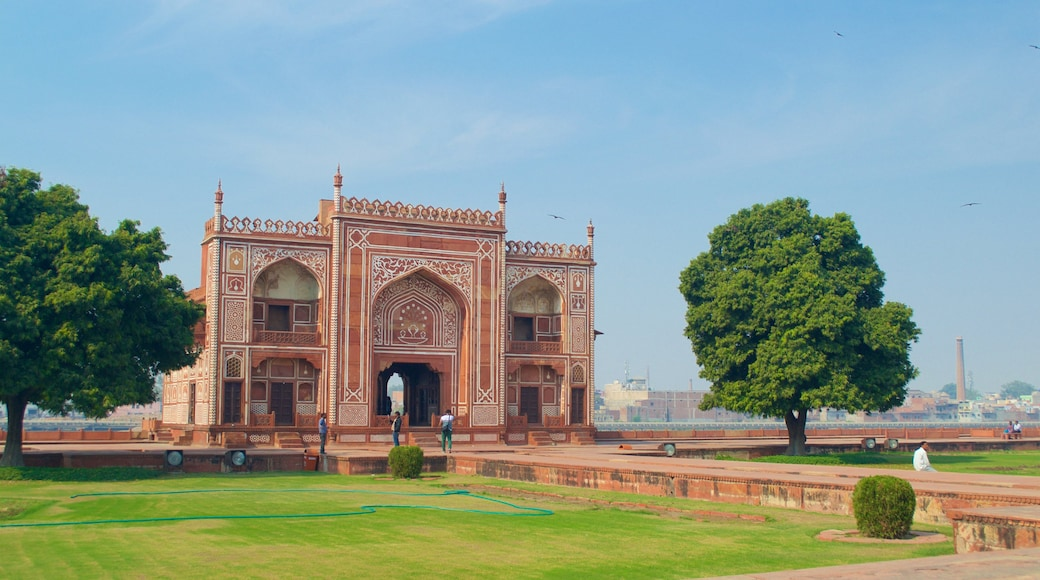 Itmad-ud-Daulah\'s Tomb which includes a cemetery, a monument and heritage elements