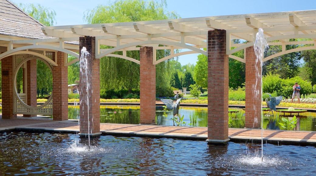 亨茨維爾植物園 呈现出 花園 和 噴泉