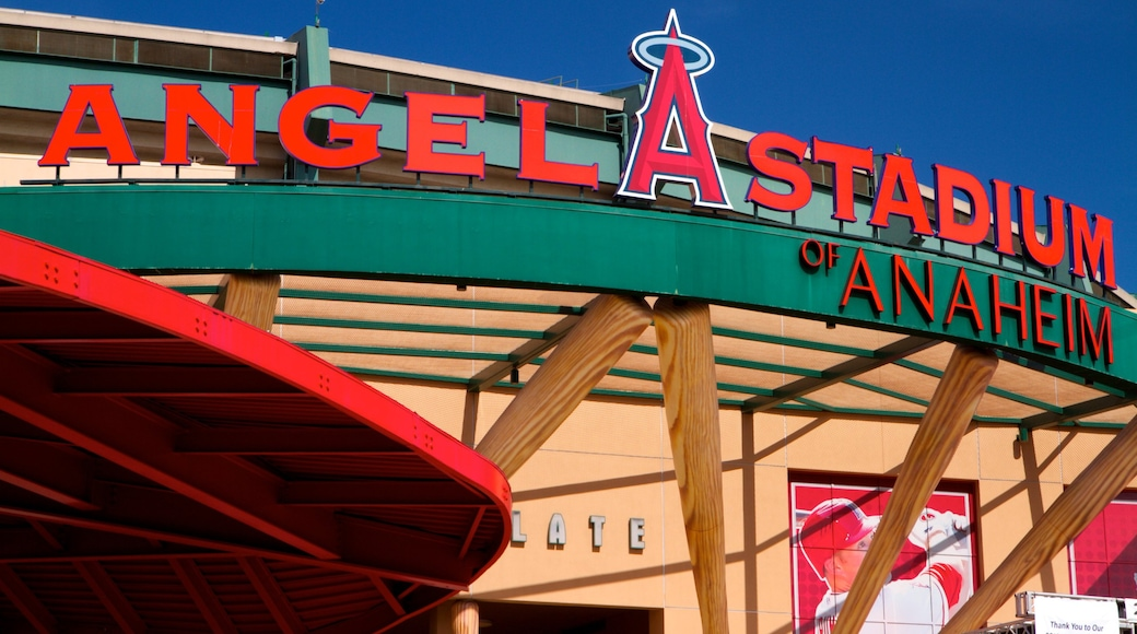 Anaheim featuring signage