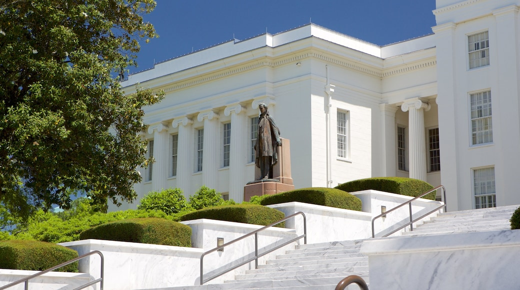 Montgomery featuring a statue or sculpture and heritage architecture