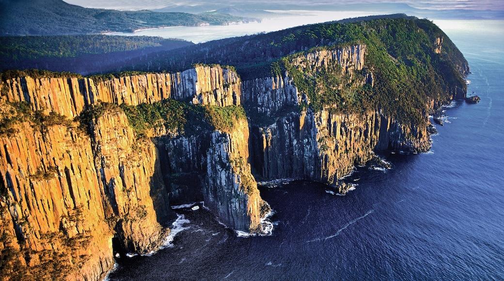 Bruny Island featuring rugged coastline