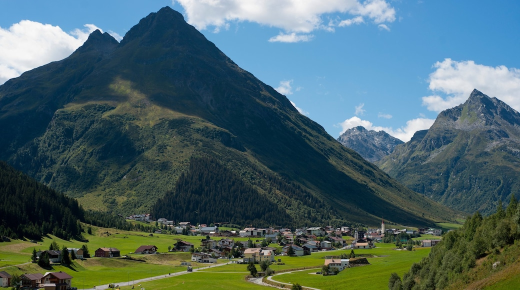 Galtur which includes mountains and a small town or village