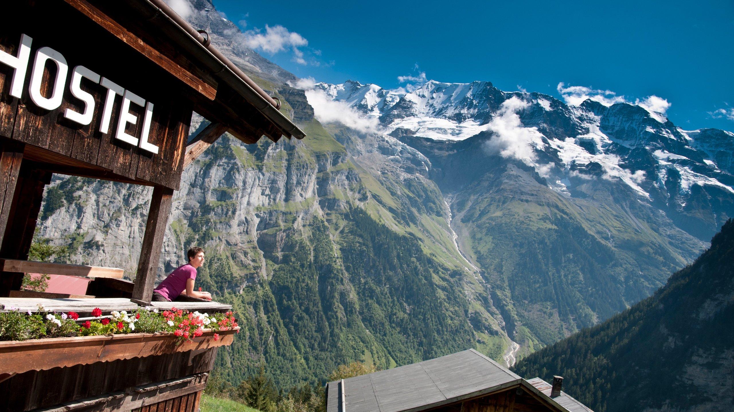 Gimmelwald, Lauterbrunnen, Kanton Bern, Schweiz