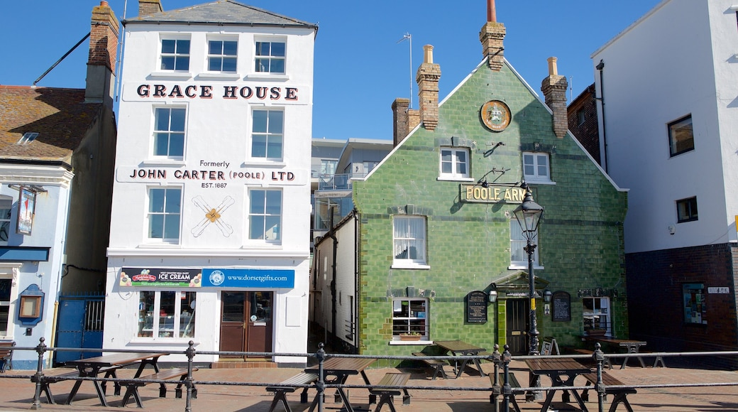 Poole Harbour showing heritage architecture