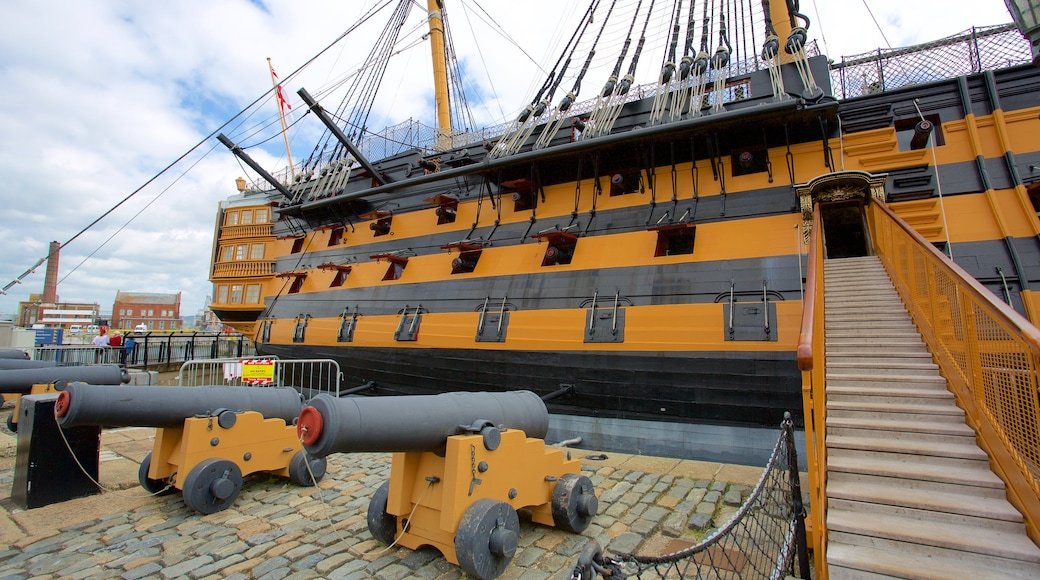 HMS Victory showing heritage elements