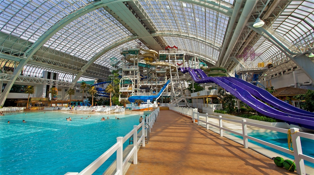 West Edmonton Mall featuring a water park and interior views