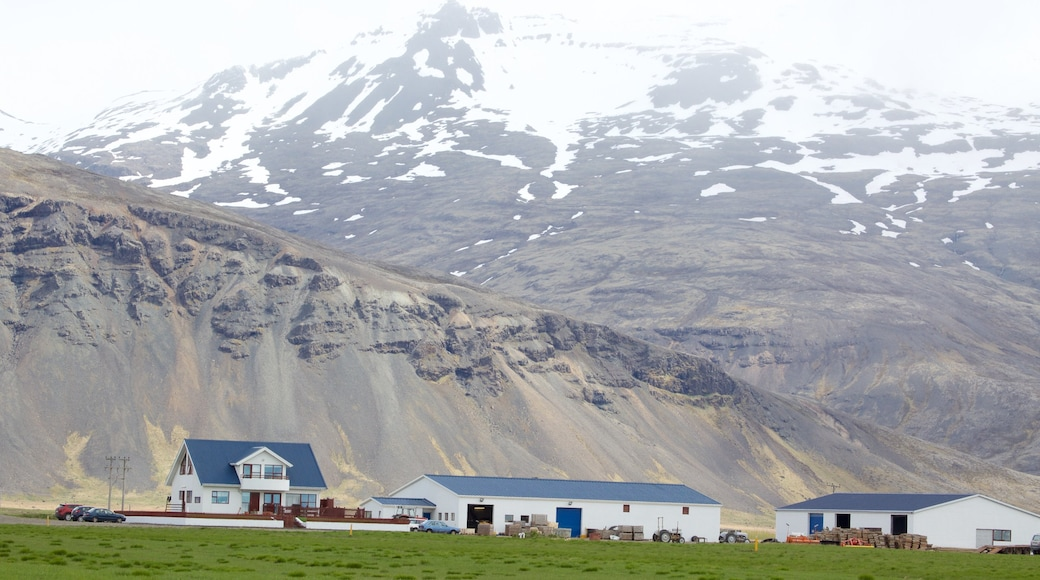 East Iceland which includes tranquil scenes, mountains and snow