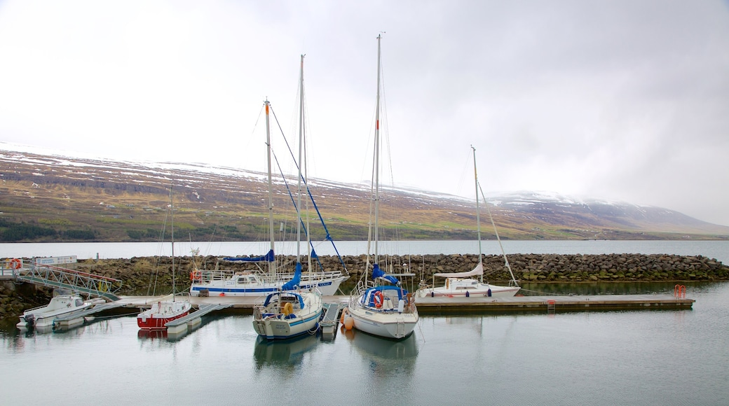Akureyri featuring sailing, boating and general coastal views