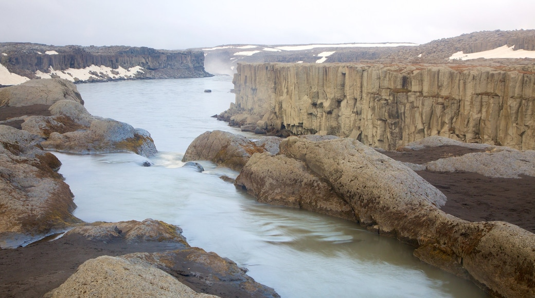 Selfoss featuring a river or creek and a gorge or canyon