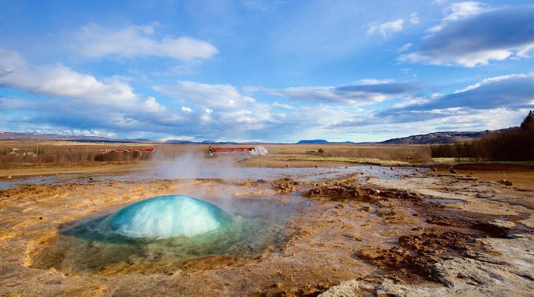 Geysir Hot Springs showing a hot spring