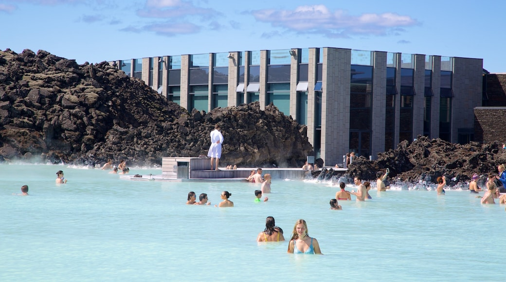Blue Lagoon which includes a luxury hotel or resort, swimming and a hot spring