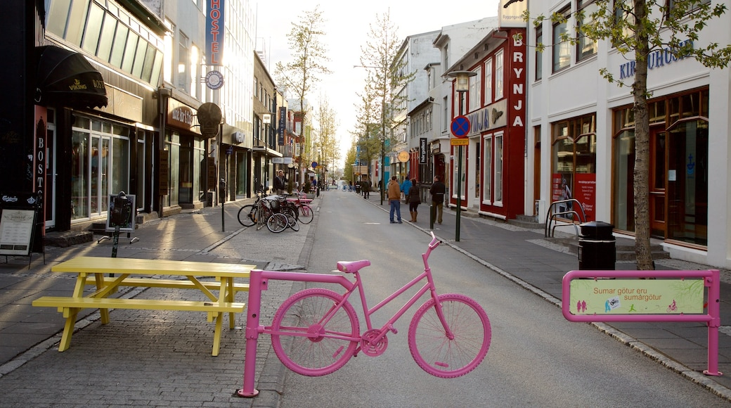 Reykjavik showing street scenes