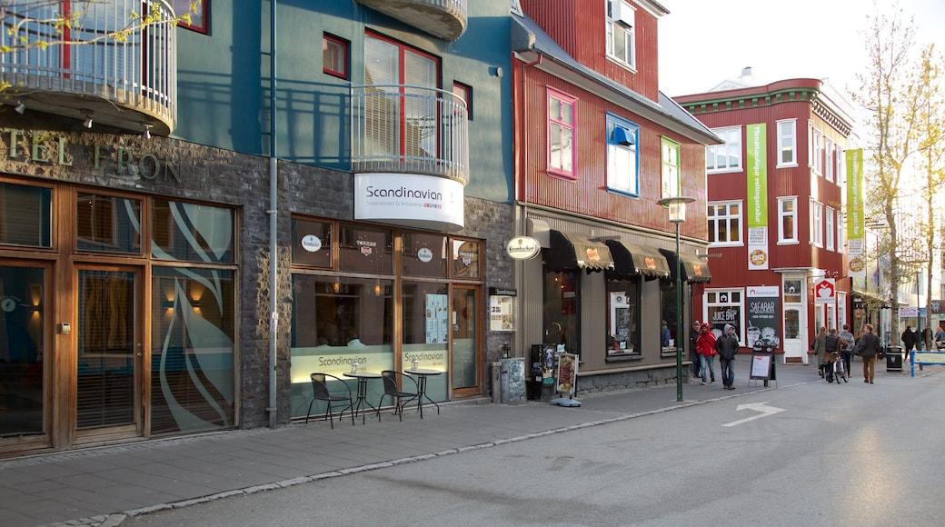 Reykjavik featuring street scenes