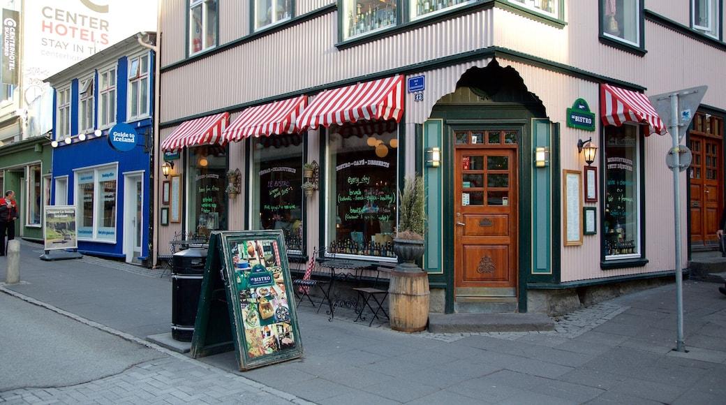 Reykjavik which includes street scenes