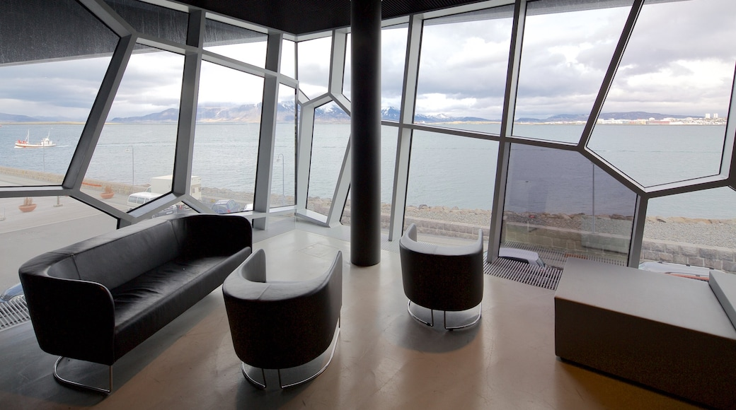 Harpa which includes interior views and modern architecture