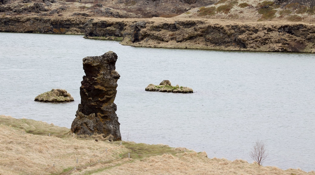 Myvatn which includes tranquil scenes and a lake or waterhole