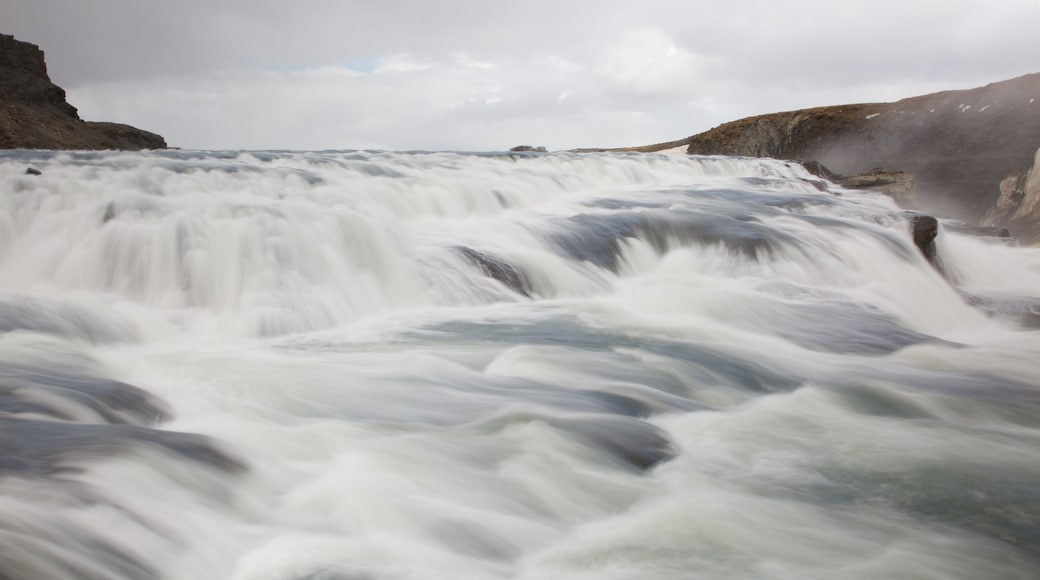 Gullfoss Waterfall which includes rapids