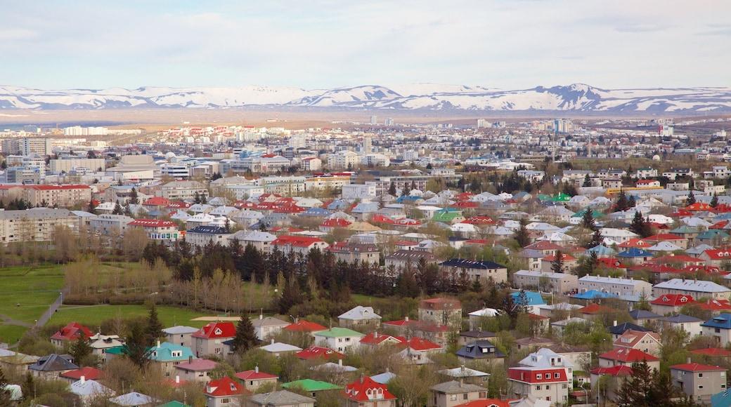 Island mit einem Stadt und Landschaften